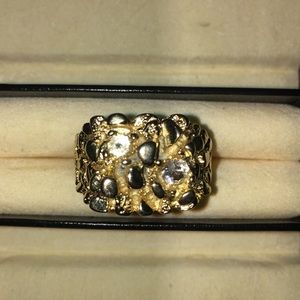 Other - Gold plated chunky nugget ring